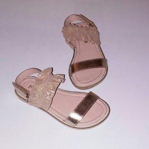 590e2edbd Nw Pazitos Ruffles Sandal Gold